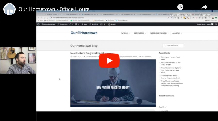 Office Hours – June 12, 2020