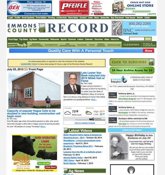 Emmons County Record