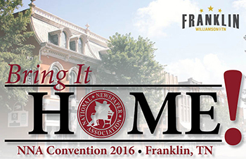 Sept. 22-24, 2016: Visit the Our Hometown Booth at the NNA Convention in Franklin, TN