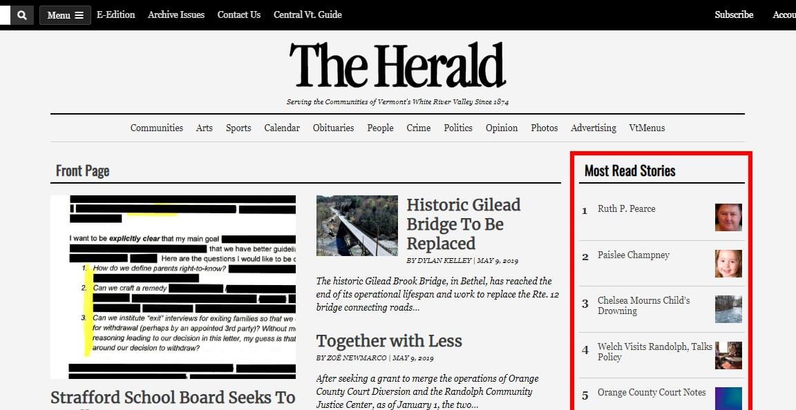 Articles Widget - Top Stories - Our-Hometown