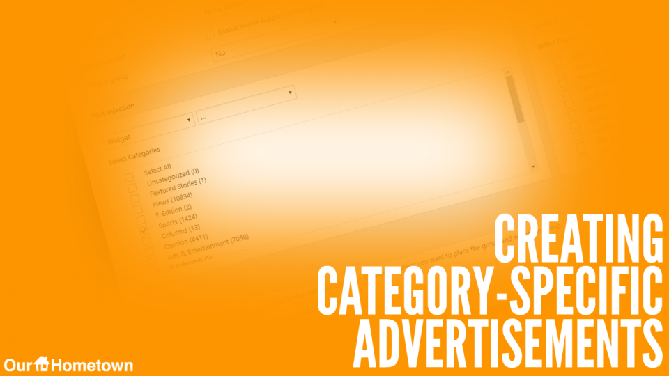 Creating Category-specific Ads with AdRotate Pro