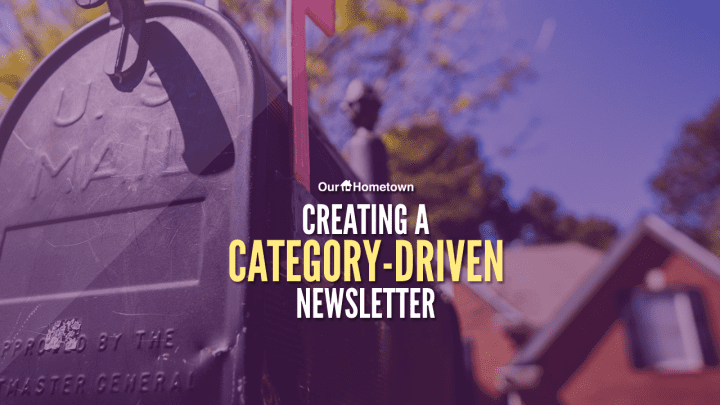Creating a category-driven Newsletter