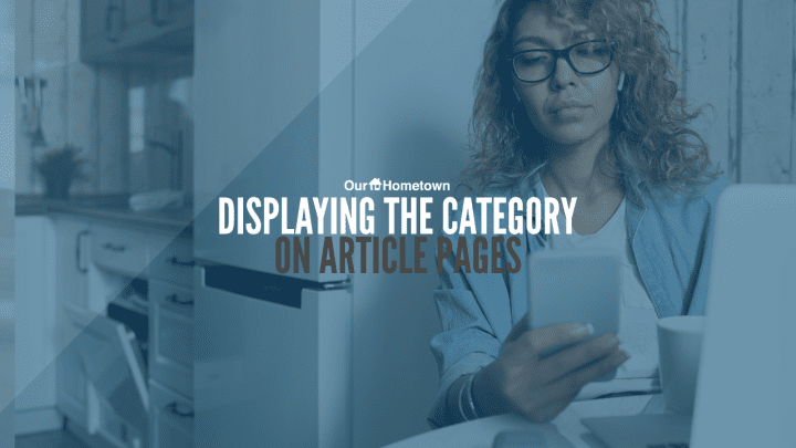 Displaying the Category when viewing an Article