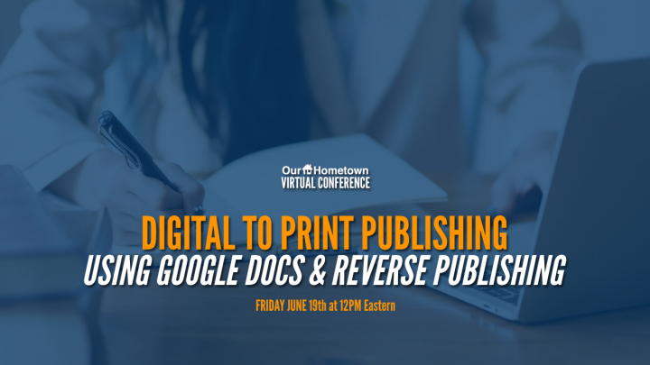 Virtual Conference: Digital to Print Publishing with Meg Norris