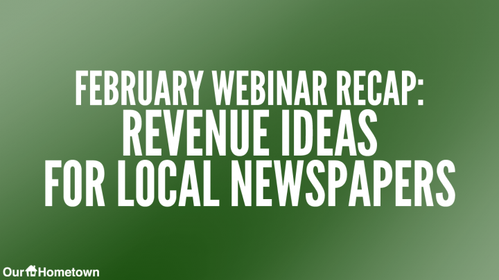 VIDEO:  Digital Revenue Opportunities for Local Newspapers in 2020