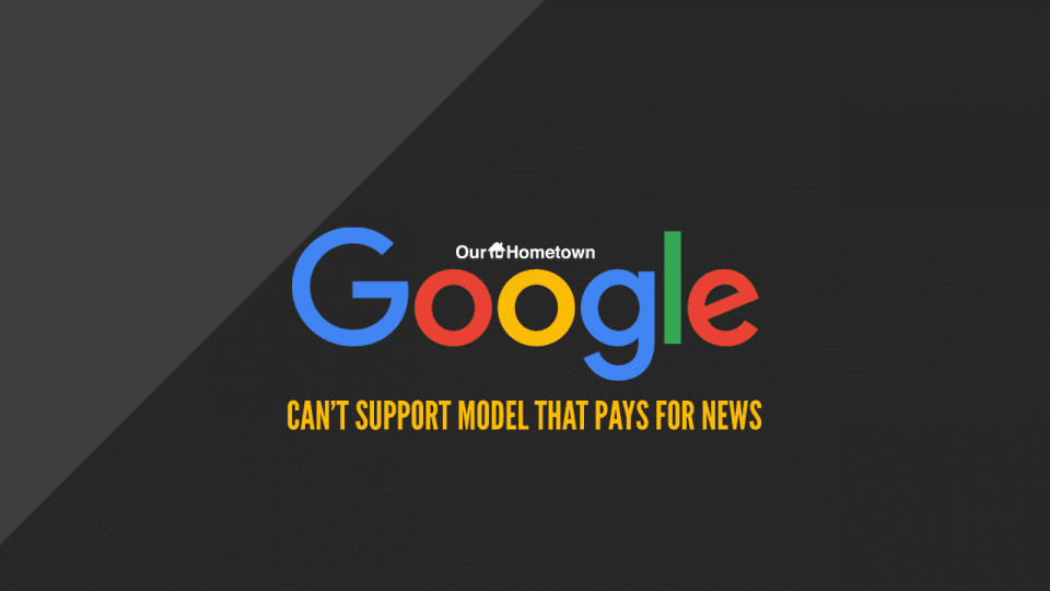 """Google unable to support """"Pay for News"""" model"""