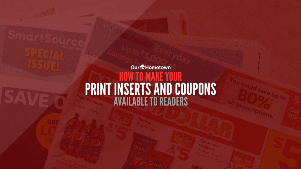 How to make your print inserts available to readers online