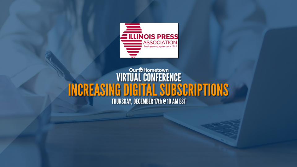Our-Hometown to present for the Illinois Press Association