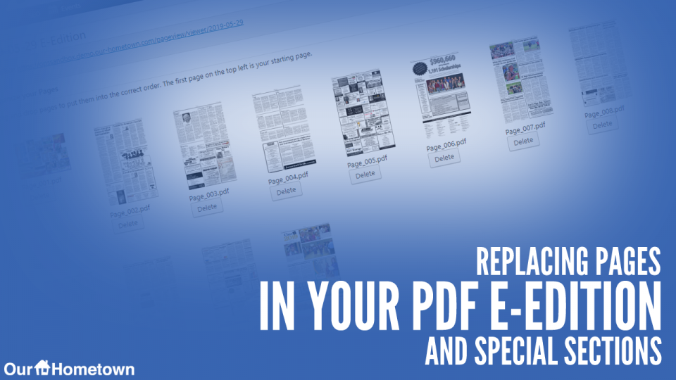 Replacing Pages in your PDF E-Edition and Special Sections
