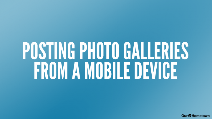 Publishing a Photo Gallery from Mobile