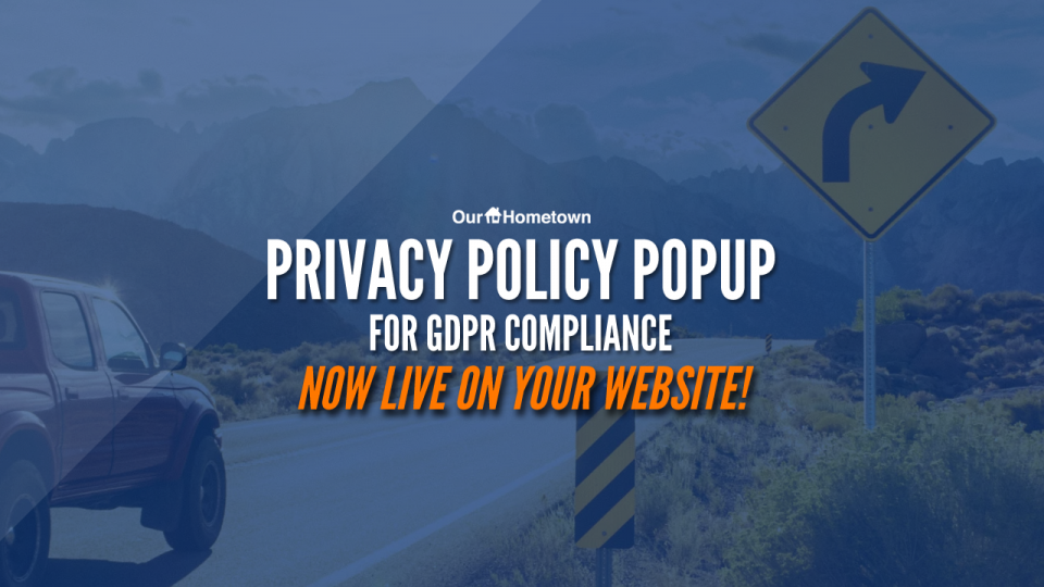GDPR Privacy Policy Popup is now live on your site!