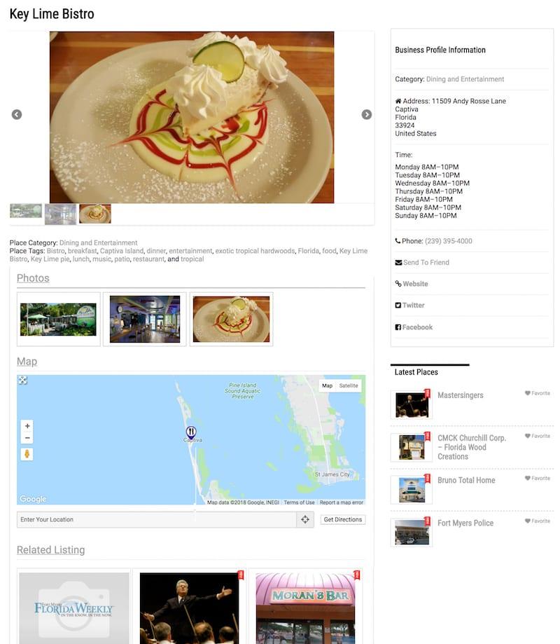 Customizable Business Profile