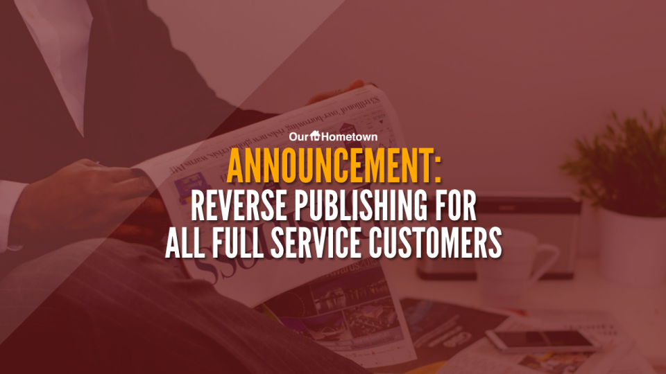 Announcement: Reverse Publishing now included for Full Service customers!