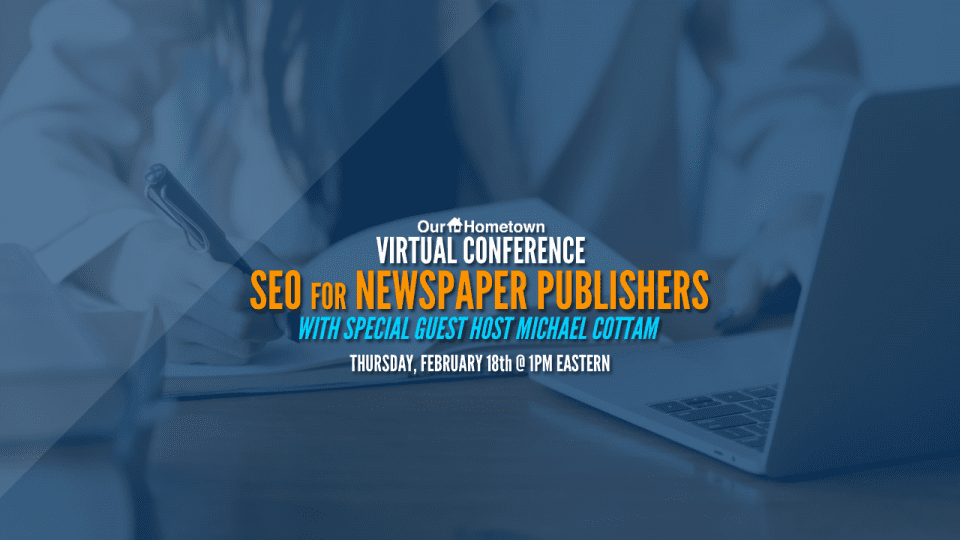 Virtual Conference Announcement: SEO for Newspaper Publishers