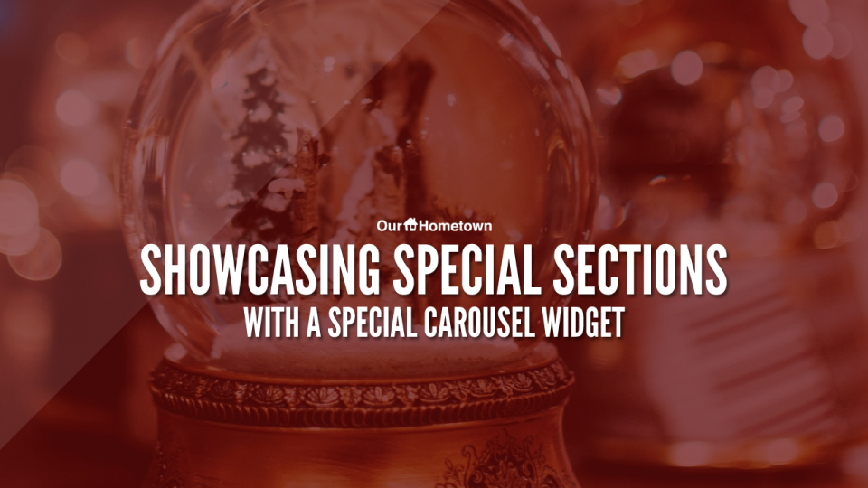 Highlight your Special Sections with a Special Carousel widget!