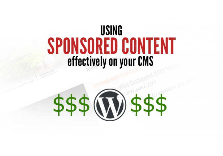 Using Sponsored Content Effectively