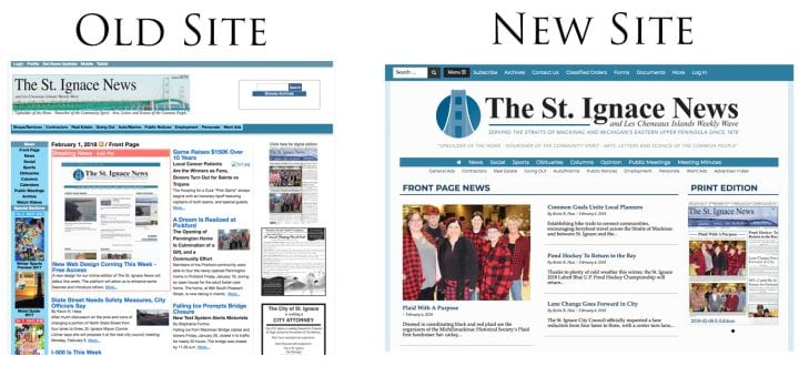 A Site Refresh for St. Ignace News