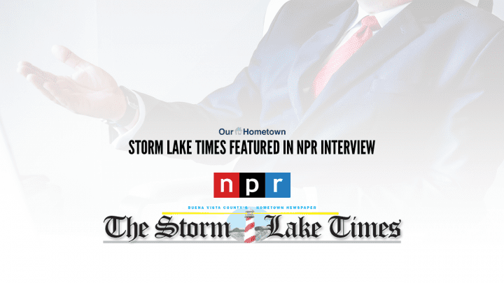 Art Cullen of Storm Lake Times interviewed by NPR